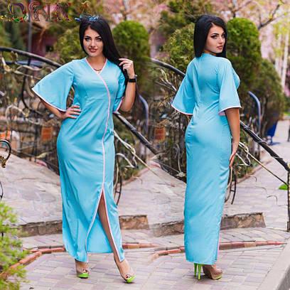 Женское платье в пол №26-ат1140 БАТАЛ