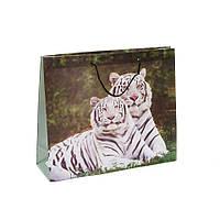 """Пакет подарочный Пэт """"Амурские тигры"""" 32х27 см"""