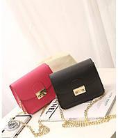 Женская сумочка розовая, черная