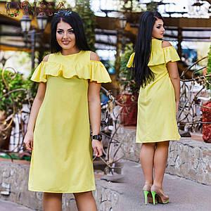 Женское летнее платье №26-ат1141 БАТАЛ