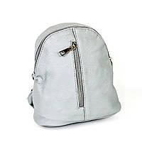 Мини-рюкзак из эко-кожи серый