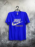 Синяя мужская футболка Nike sportswear