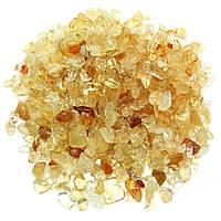 Камни натуральные для декора Цитрин (3-8 мм) 100 грамм