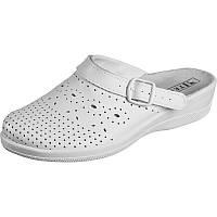 Сабо белые женские кожаные медицинские рабочая обувь оптом
