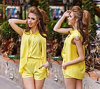 Женский летний костюм с шортами №26-ат1132