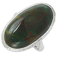 Гелиотроп яшма, серебро 925, кольцо, 597КЦЯ