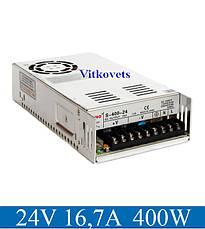 Импульсный блок питания S-400-24, 24V, 16.7А, 400W, фото 2