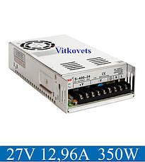 Импульсный блок питания S-350-27, 27V, 12.96А, 350W, фото 2