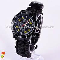 Часы с браслетом для выживания Fire Starter Paracord 7 в 1