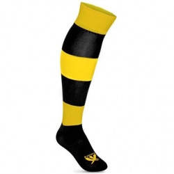 Гетры футбольные SWIFT ЗЕБРА желто/черные р.27, фото 2