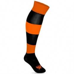 Гетры футбольные SWIFT ЗЕБРА черно/оранжевые, р.27, фото 2