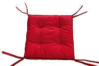 Подушка на стул 40х40 см борт 5 см красная