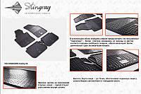 Volkswagen Touran 2003-2010 резиновые ковры Stingray Budget 4 штуки