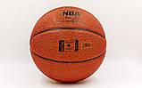 Мяч баскетбольный PU №7 SPALD NBA Gold (оранжевый), фото 3