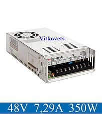Импульсный блок питания S-350-48, 48V, 7.29А, 350W, фото 2