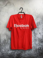 Мужская красная спортивная футболка Reebok classic .