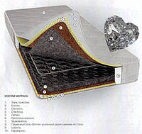 Матрас пружинный Алмаз New 140х190см с прослойкой латекса, чехол из жаккарда
