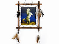 Картина панно голограмма Конь на дыбах