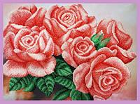 Набор для вышивания бисером «Розовые розы»