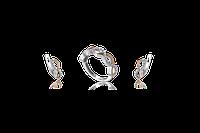 НАБОР серебряные серьги 925 пробы и кольцо с золотыми пластинами 375 пробы,вставками,накладками ЗОЛОТА ЕВАНГЕЛ