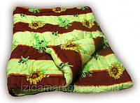 Двуспальное одеяло двойной силикон - ткань полиестр