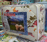 Шерстяное евро одеяло - ткань хлопок