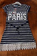 Стильное синее летнее платье для девочки 9, 10, 11, 12  лет!!Турция!Платье, сарафан лето.Летняя одежда девочку