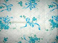Ткань постельная Ситец Бантик Бирюзовый На Белом
