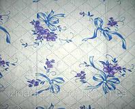 Ткань постельная Ситец Бантик фиолетовый на белом