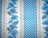 Ткань постельная Ситец Донецкий Вишиванка новая синяя