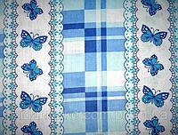 Ткань постельная ситец Бабочка синяя