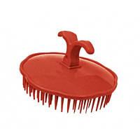 Массажная щетка для шампунирования TICO Professional красная (600203)