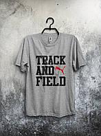 Спортивная серая футболка Puma Track and Field .