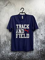 Спортивная темно-синяя футболка Puma Track and Field .