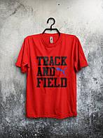 Спортивная красная футболка Puma Track and Field .