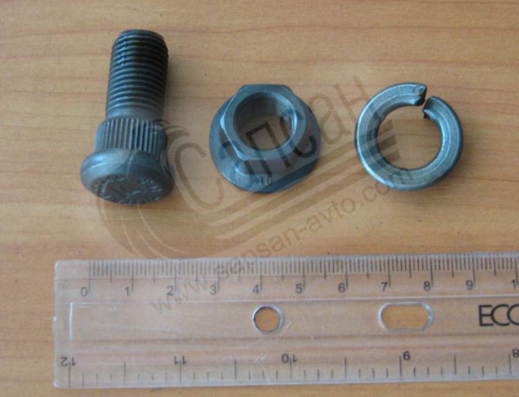 Болт шкворня полуприцепа + втулка +гайка KRONE М13,5х40. 90.17.25
