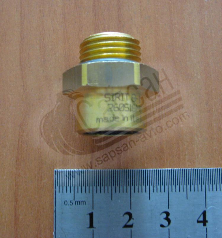 Соединитель аварийный трубка М8 16х1,5 (латунь). 2800080601615