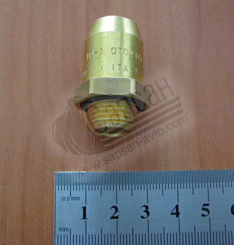 Соединитель аварийный трубка М10 16х1,5 (латунь). 2800100801615