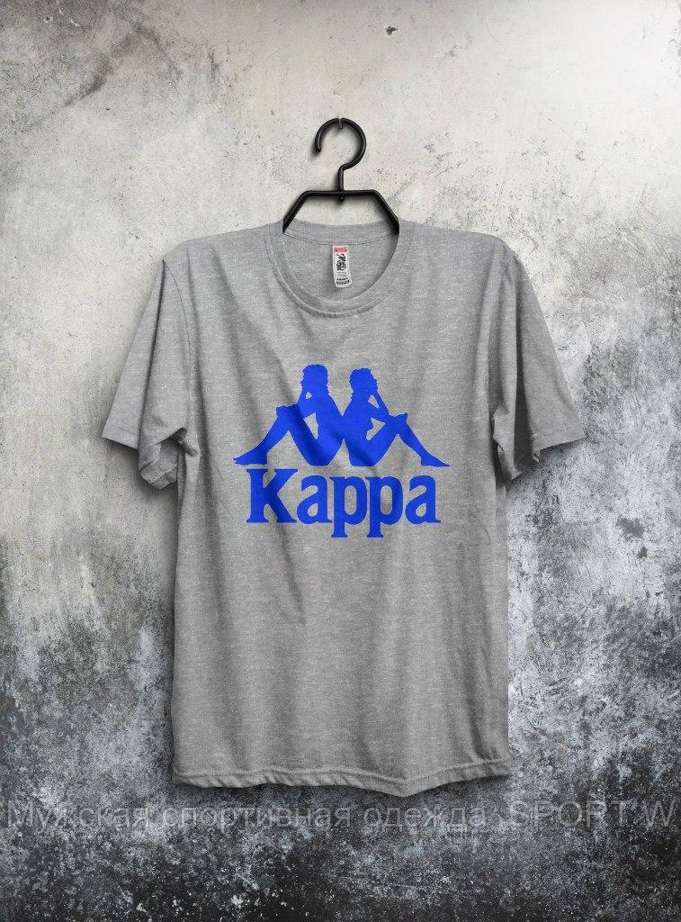 Мужская серая футболка Kappa . - Мужская спортивная одежда SPORT W в  Запорожье 98e84054d35