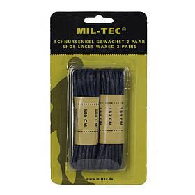 Шнурки вощеные MIL-TEC 180см черные