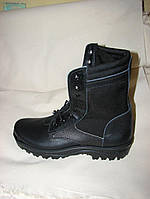 Берцы ботинки высокие военные летние облегченные  с черной тканевой вставкой