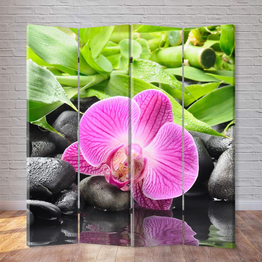 """Ширма """"Орхидея на камне"""""""