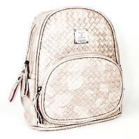 Рюкзак из эко-кожи нежно-розовый H&H Jingpin