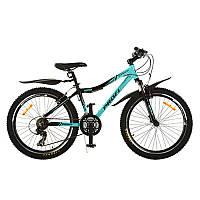 Велосипед XM241D Profi, 24 дюйма бирюзовый