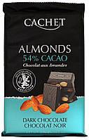 Шоколад черный CACHET (с Мигдалем,54% Какао) 300г.