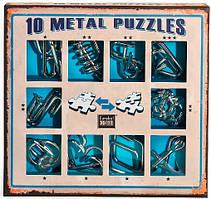 Металеві пазли - 10 Metall Puzzles blue   10 головоломок