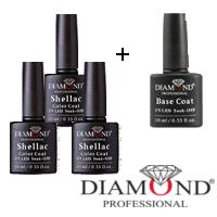 Набор гель лаков Diamond + Base Coat Diamond в подарок