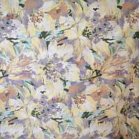 Постельная ткань микрофибра Желтые большие цветы кистью