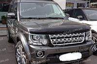 Дефлектор Ленд Ровер Дискавери 4 (мухобойка на капот Land Rover Discovery 4)