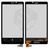 Тачскрин (сенсор) для мобильного телефона Nokia 920 Lumia, черный